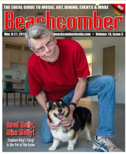 Molly as 'Pet of the issue', The Beachcomber, inc, Magazine, USA, 2018