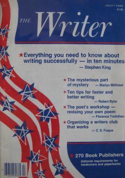 The WRITER, Magazine, 1986