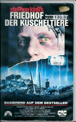 Stephen King's Pet Sematary, VHS, 1989