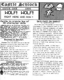 Ausgabe 1 1986 Parody Newsletter, Magazine, USA, 1986