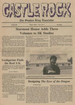 Castle Rock Magazine, Magazine, 1985