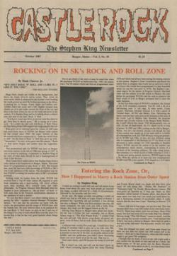 Stephen King Newsletter Volume 3 10/1987, Stephen King, Magazine, USA, 1987