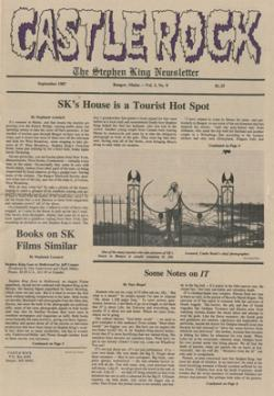 Stephen King Newsletter Volume 3 09/1987, Stephen King, Magazine, USA, 1987