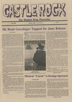 Stephen King Newsletter Volume 4 05/1988, Stephen King, Magazine, USA, 1988