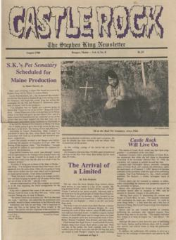 Stephen King Newsletter Volume 4 08/1988, Stephen King, Magazine, USA, 1988