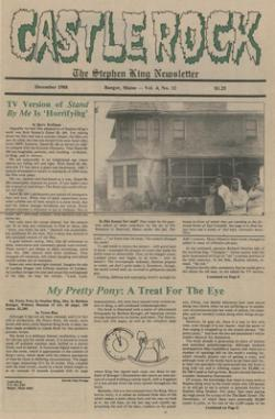 Stephen King Newsletter Volume 4 12/1988, Stephen King, Magazine, USA, 1988