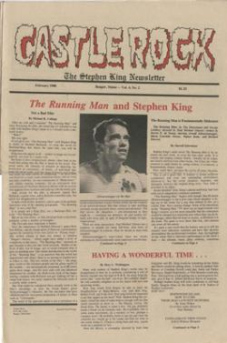 Stephen King Newsletter Volume 4 02/1988, Stephen King, Magazine, USA, 1988