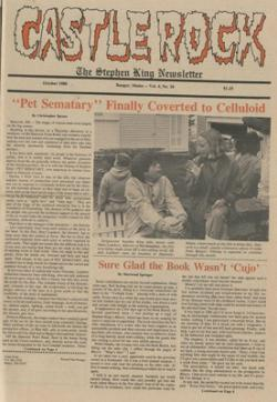 Stephen King Newsletter Volume 4 10/1988, Stephen King, Magazine, USA, 1988