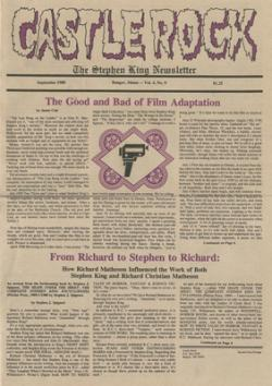 Stephen King Newsletter Volume 4 09/1988, Stephen King, Magazine, USA, 1988