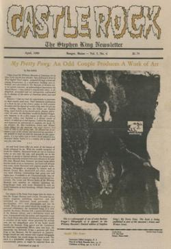 Stephen King Newsletter Volume 4 04/1989, Stephen King, Magazine, USA, 1989