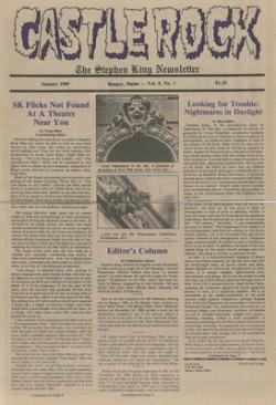 Stephen King Newsletter Volume 5 01/1989, Stephen King, Magazine, USA, 1989