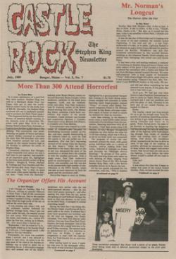 Stephen King Newsletter Volume 5 07/1989, Stephen King, Magazine, USA, 1989