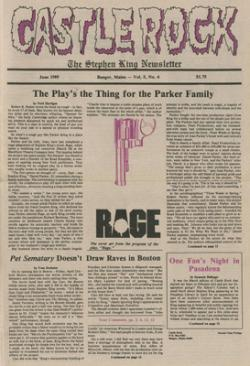 Stephen King Newsletter Volume 5 06/1989, Stephen King, Magazine, USA, 1989