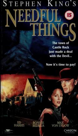 Needful Things, VHS, 1998